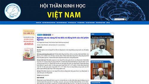 Website Hội Thần kinh học Việt Nam đăng tải kết quả nghiên cứu tác dụng hỗ trợ điều trị động kinh của cốm Egaruta